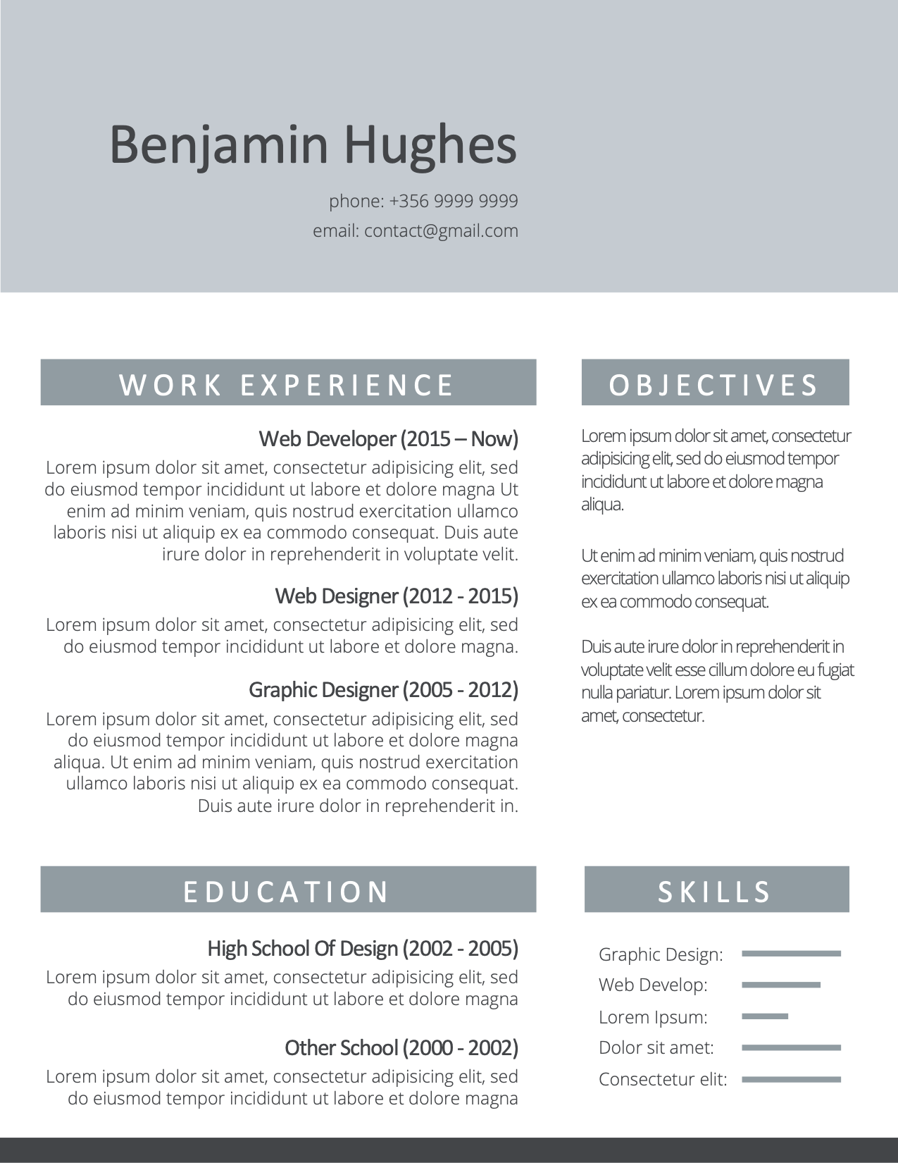 CV Template Option 4