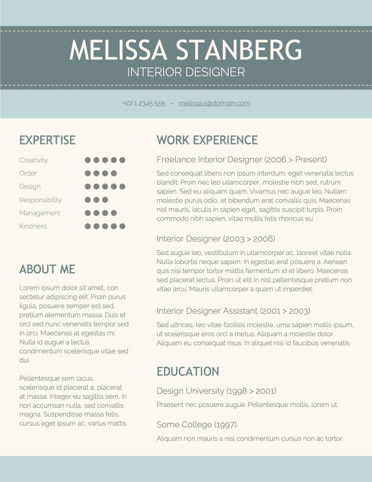 CV Template Option 7