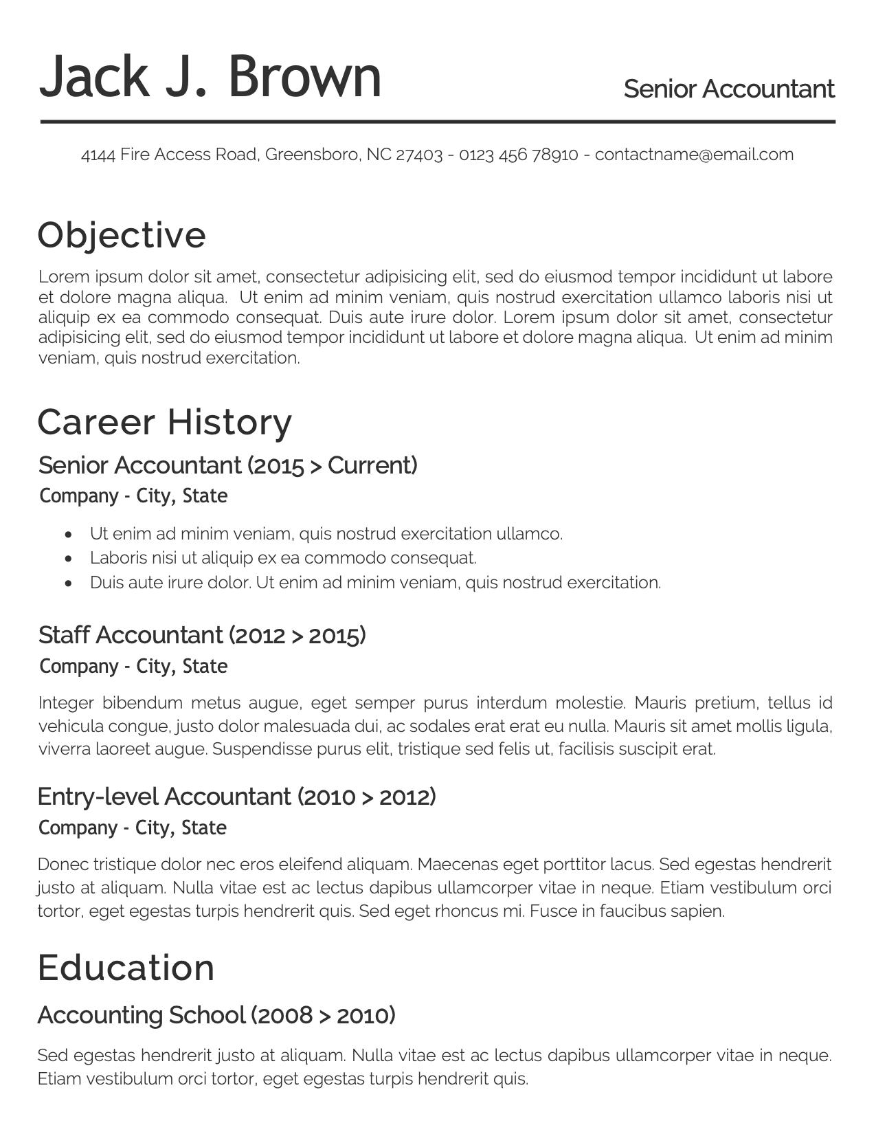 CV Template Option 3