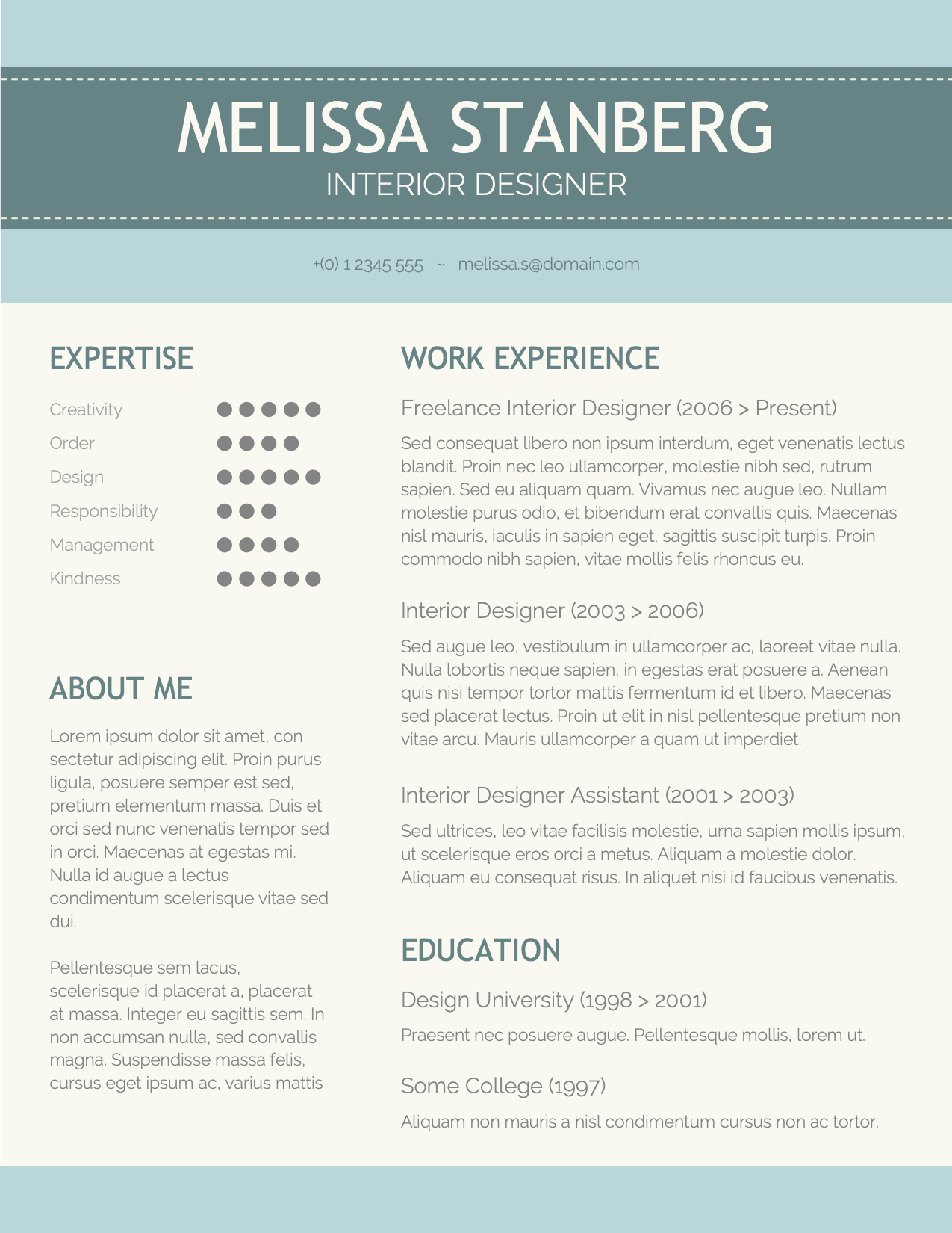 CV Template Option 7