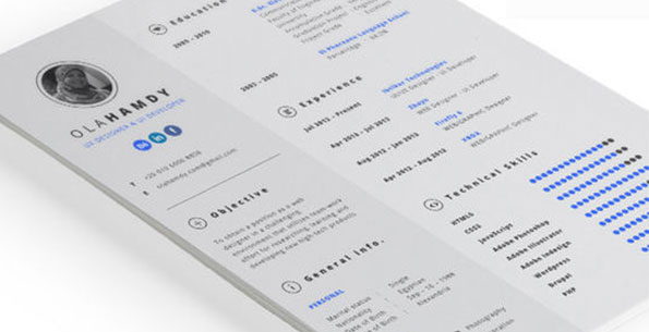 Clean Interactive Resume by Ola Hamdy