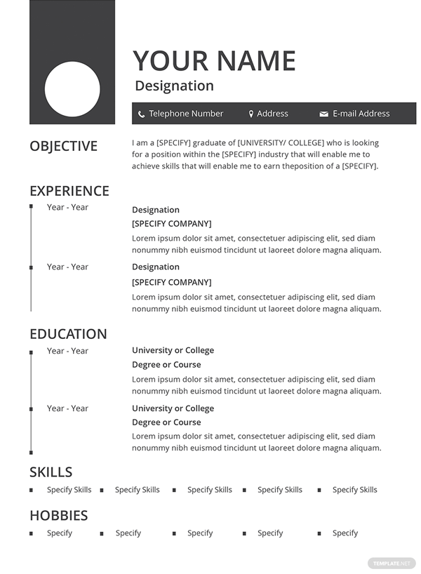 10 free cv templates in word document