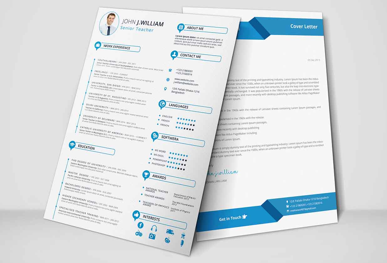 Free Resume & Cover Letter Template by Aftab Hossain