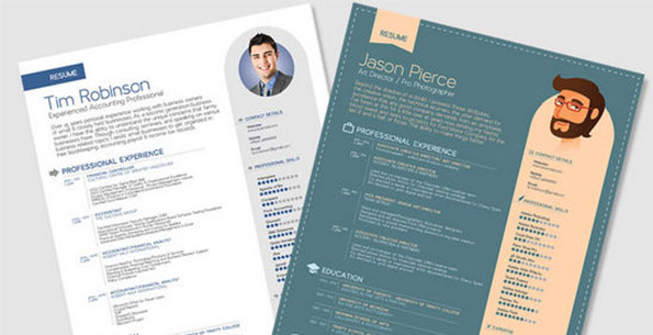 Simple Resume Templates In Vector Format by Zee Que