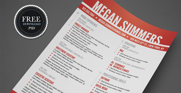 Swiss Style Resume Template by Mike Bradshaw